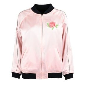 OC reversible silk varsity jacket